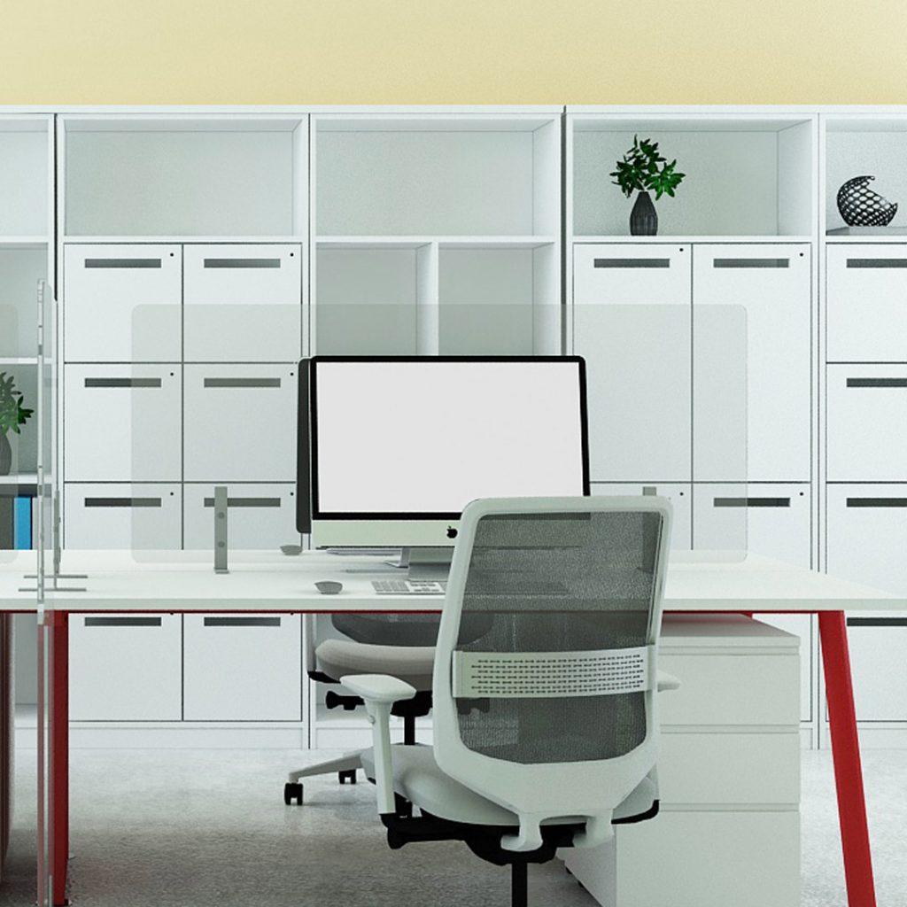 Acrylic Shield Office Desking