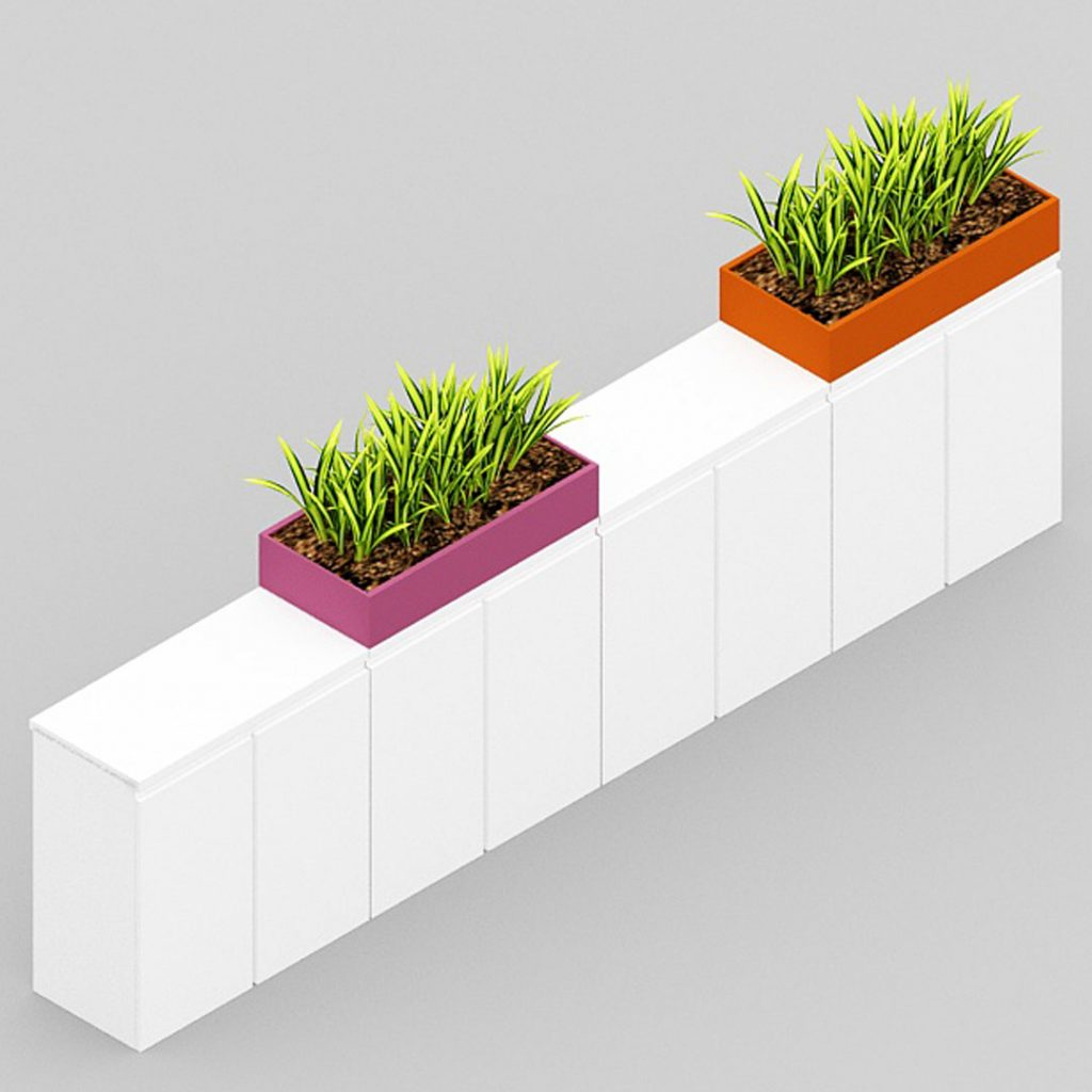 Low Cabinets with planter