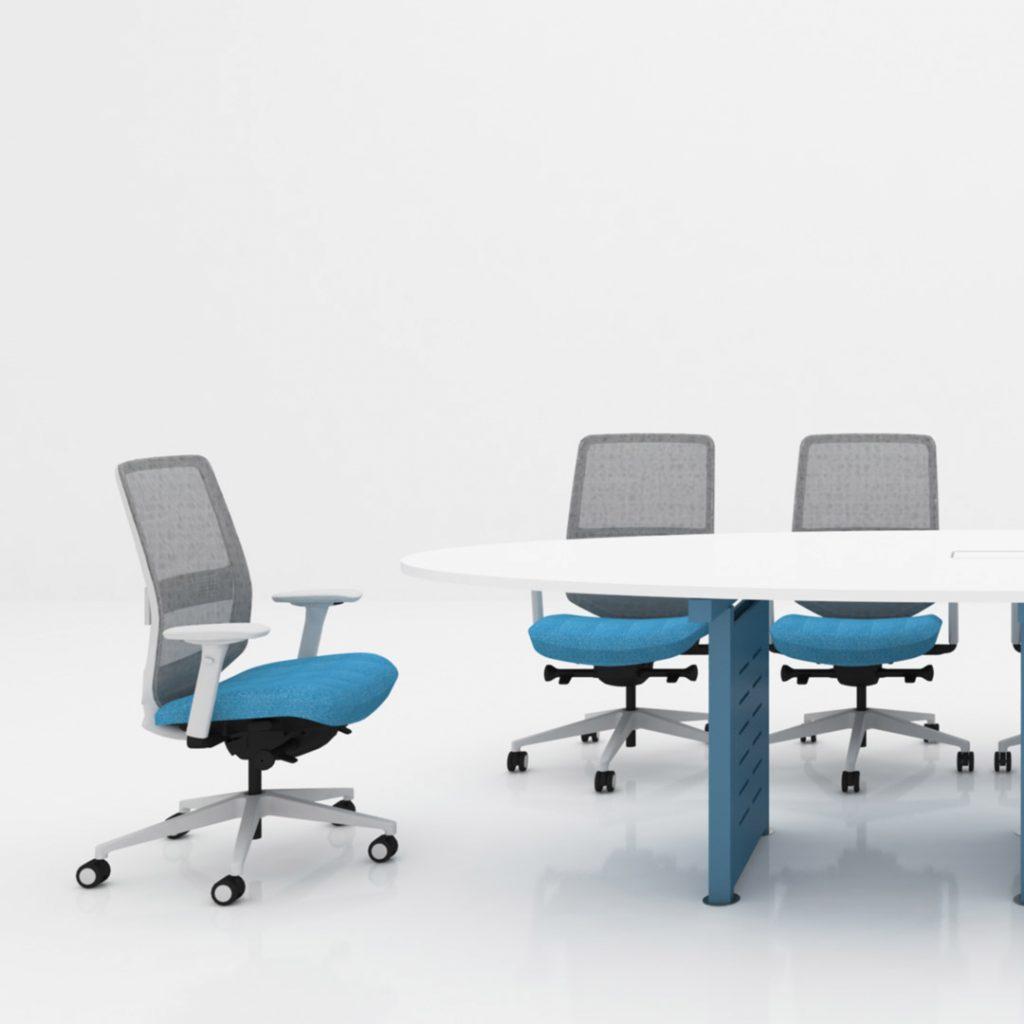 Office Furniture Workstation Blue