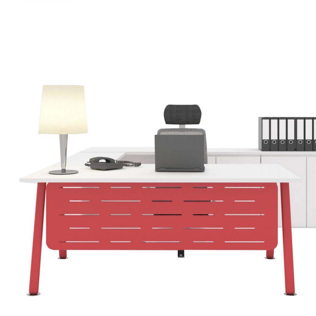 Office Furniture Workstation Orange