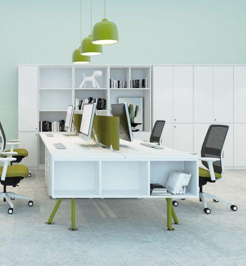 desking workstation green