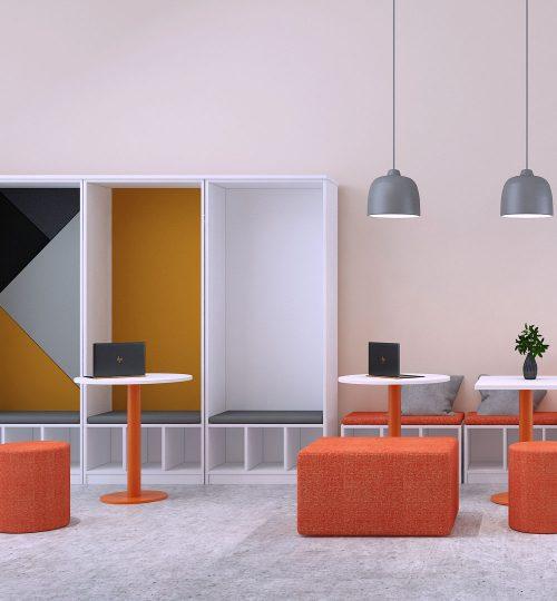 office furniture breakout area